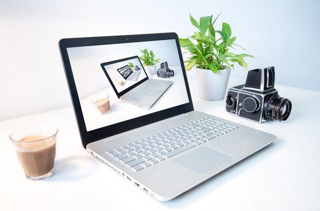 laptop, computer, droste effect